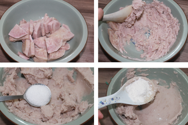 Làm vỏ bánh khoai môn - cách làm khoai môn lệ phố