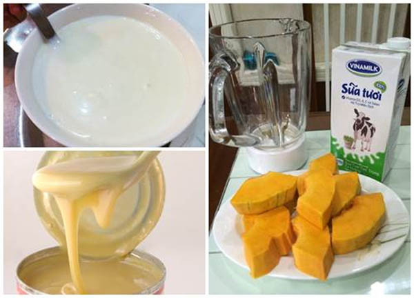 Nguyên liệu chính để làm sữa bí đỏ - cách làm sữa bí đỏ tăng cân