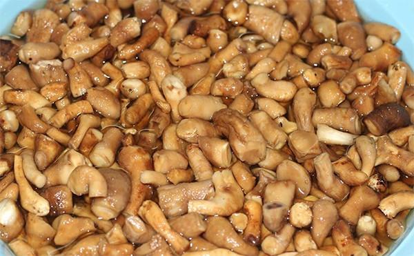 Làm sạch chân nấm - cách làm ruốc nấm chay