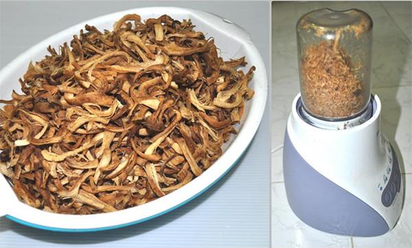 Xé ruốc nấm - ruốc nấm hương