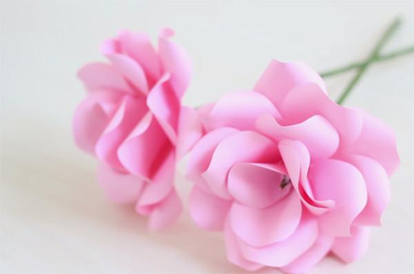 Những bông hoa bằng giấy màu A4 - cách làm hoa giấy bằng a4