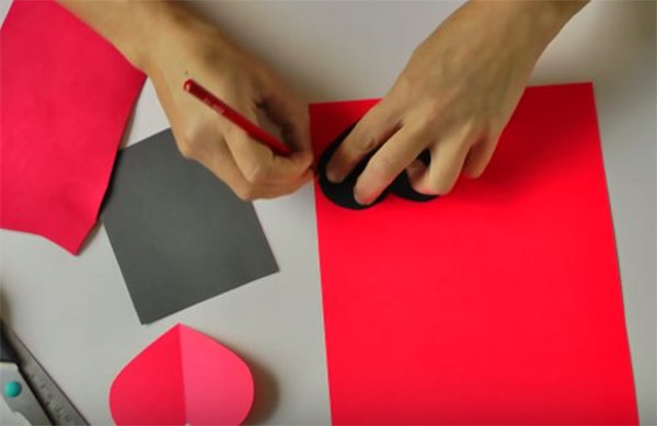 Làm đáy hộp - cách làm hộp quà bằng giấy a4