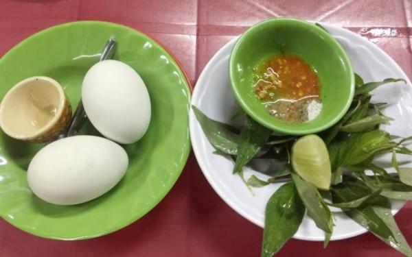 Trứng vịt lộn - cách luộc trứng vịt lộn ngon