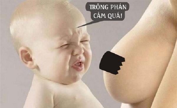 Làm ngực xấu là một trong những cách cai sữa cho bé được nhiều mẹ áp dụng - cách cai sữa cho con