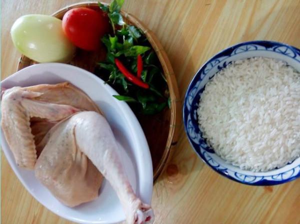 Nguyên liệu nấu cơm gà - cách làm cơm gà