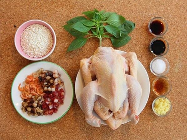 Nguyên liệu làm gà bó xôi - cách làm gà bó xôi mini