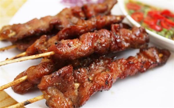 Thịt xiên nướng - cach lam thit xien nuong