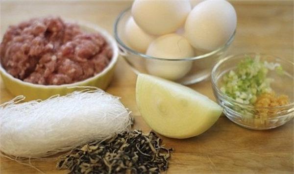 Nguyên liệu làm chả trứng - cách làm chả trứng hấp