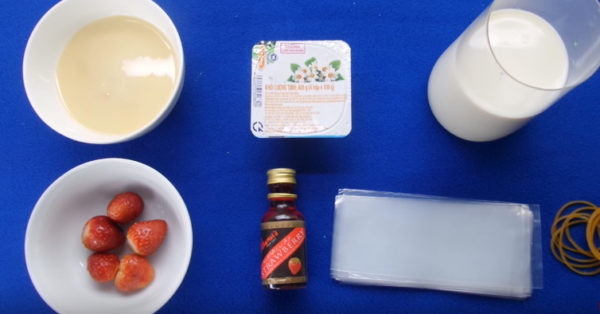 Nguyên liệu làm sữa chua túi - cách làm sữa chua túi tại nhà