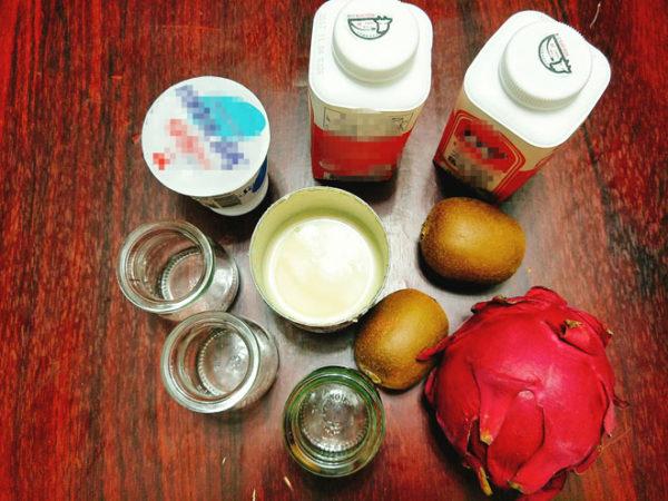 Nguyên liệu làm sữa chua uống - cách làm sữa chua uống hoa quả