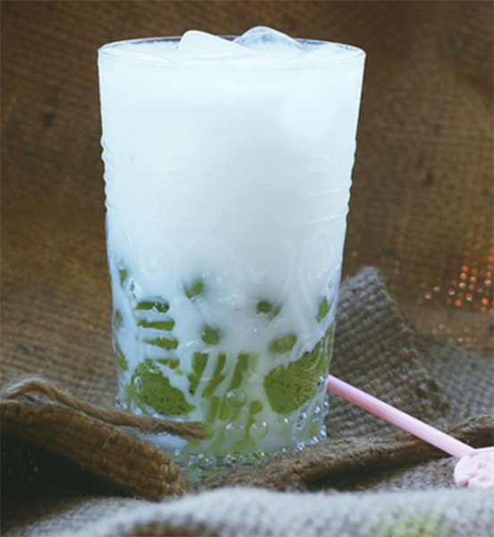 Sữa dừa non thạch rau câu - sữa dừa