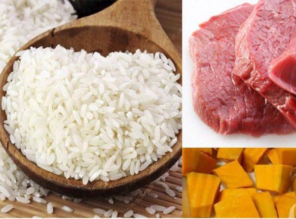 Cách nấu cháo bí đỏ thịt bằm thơm ngon