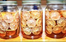 Cách ngâm chanh đào mật ong trị ho và viêm họng cực hiệu quả