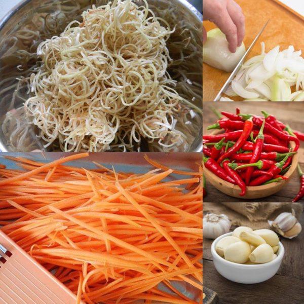 Cách làm món nộm gà hoa chuối