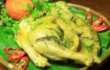 Cách làm gà hấp muối sả lá chanh thưởng thức là mê