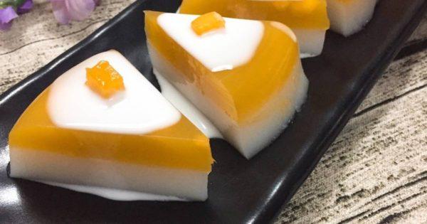 cách làm thạch cam sữa