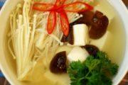 Canh đậu hũ nấu kim châm chay siêu ngon, thanh mát cho cả nhà