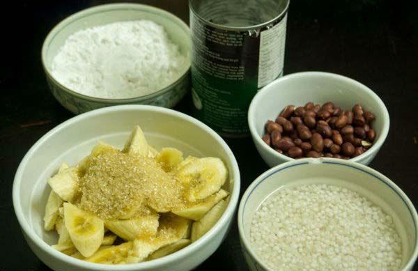 cách làm chè chuối hấp nước cốt dừa