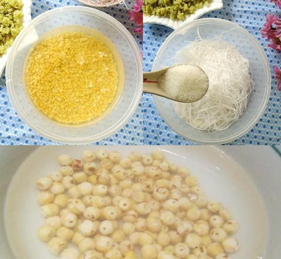 Cách nấu xôi cốm đậu xanh