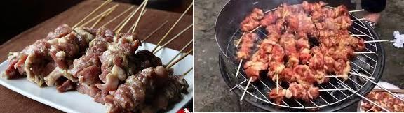 Cách làm bún thịt xiên nướng