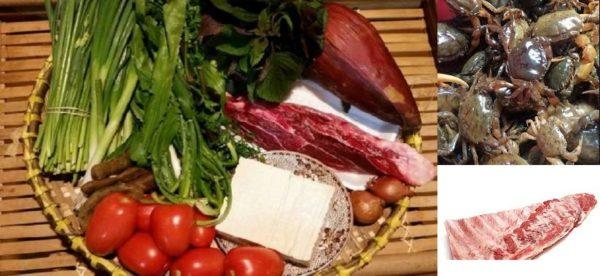 Nấu lẩu bắp bò riêu cua