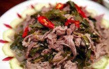 Cách làm món thịt trâu nấu lá lồm ngon đậm vị Tây Bắc