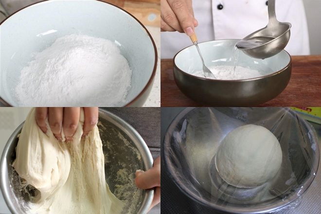 pha bột làm bánh ngào bằng nước ấm