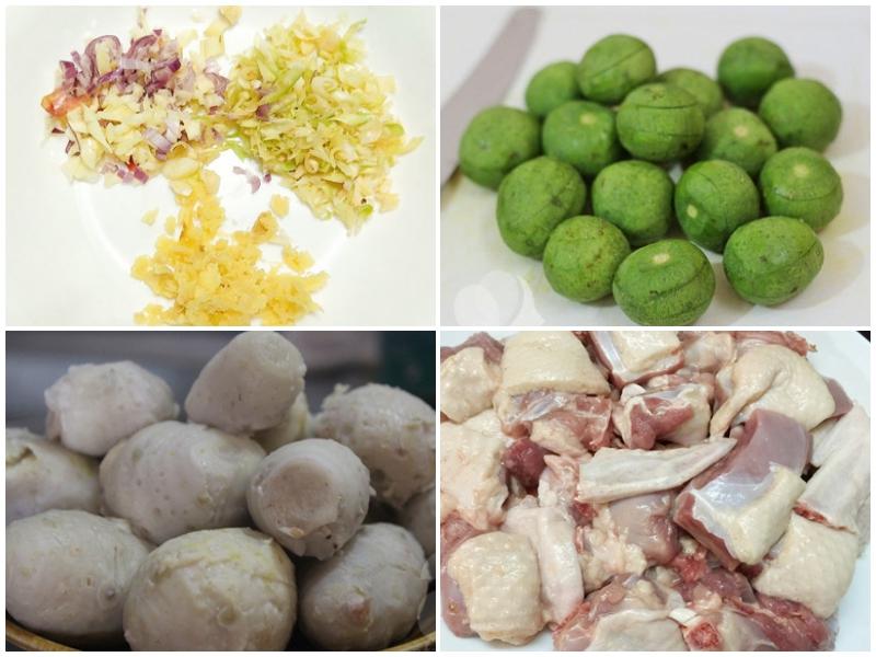 Sơ chế các nguyên liệu theo hướng dẫn để tạo ra món ăn thơm ngon