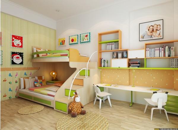 Tư vấn bố trí nội thất phòng ngủ dài và hẹp cho gia đình 4 người - ảnh nhà đẹp nội thất đẹp số 88