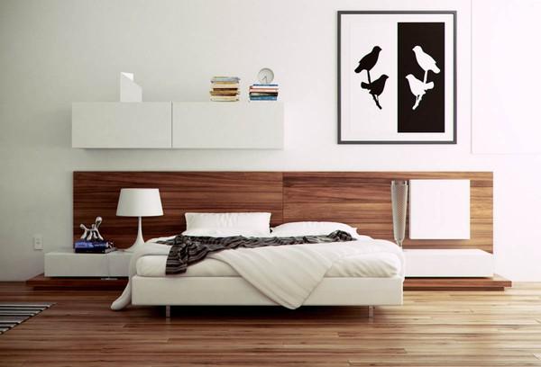 Phòng ngủ lớn được thiết kế hiện đại, sang trọng và tràn ngập ánh sáng